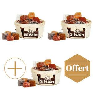 Nougat Silvain - Barquette de pâtes de fruits assorties 2+1 offerte
