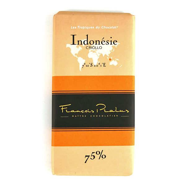 Tablette chocolat noir Indonésie Pralus 75%