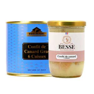 Foie gras GA BESSE - Confit de Canard Besse - from South Western France