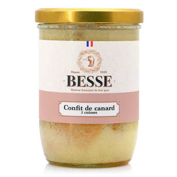 Foie gras GA BESSE - Confit de Canard Besse - from South Western France