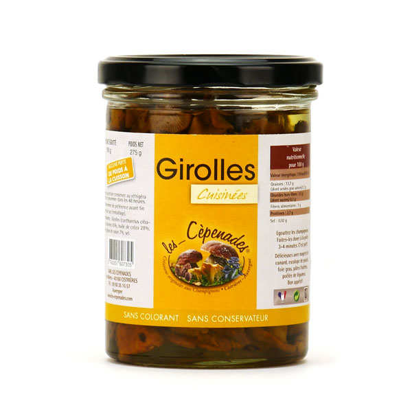 Preserved Cooked Girolles Mushroom