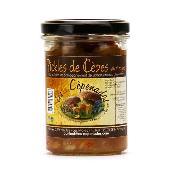 Pickles de cèpes au vinaigre