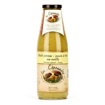 Les Cèpenades - Velouté poireaux pommes de terre aux morilles