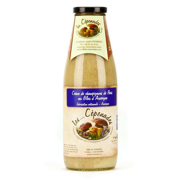 Cream of Mushrooms from Paris au Bleu d'Auvergne