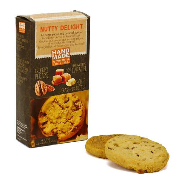 Cookies pur beurre noix de pécan et caramel
