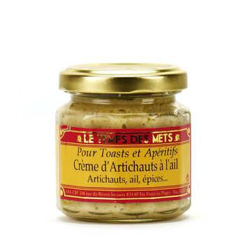 Le Temps des Mets - Crème d'artichauts à l'aïl