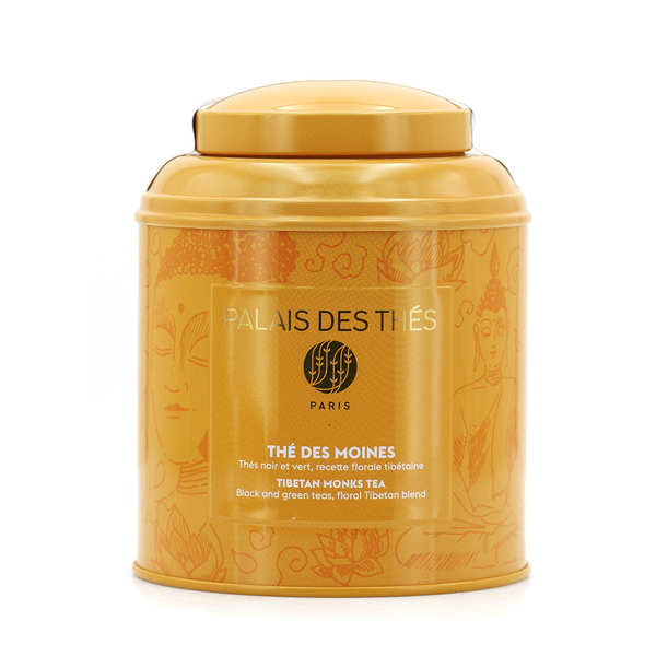 Thé des Moines en boîte métal orange