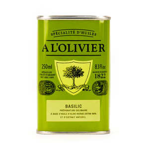A L'Olivier - Huile d'olive vierge extra au basilic