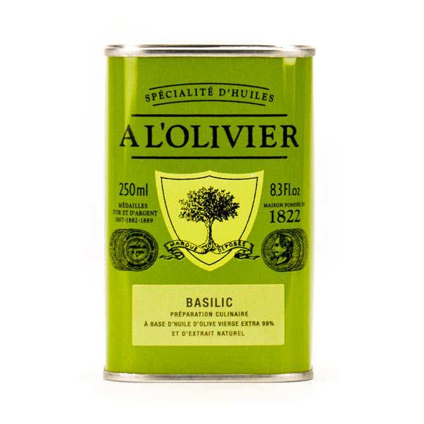 Huile d'olive vierge extra au basilic