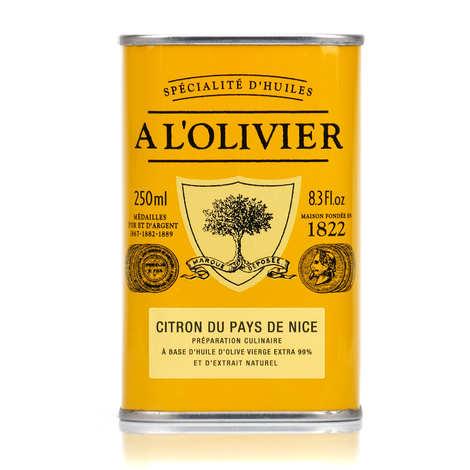 A L'Olivier - Huile d'olive vierge extra au citron du pays de Nice