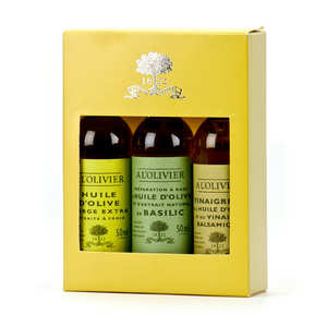 A L'Olivier - Vinaigrette And Oil Gift Box - Little Bottle