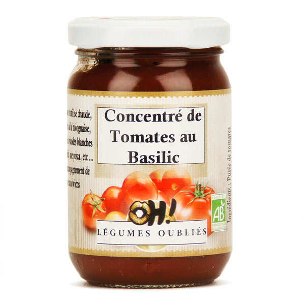 Organic tomato sauce flavoured with basil