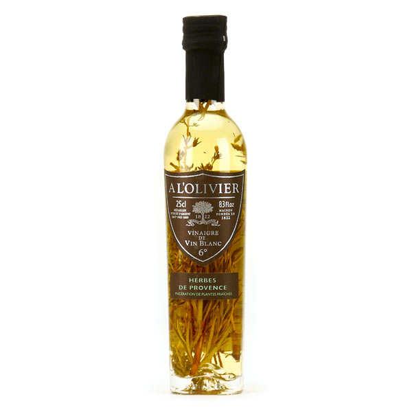 Vinaigre de vin blanc aux herbes de provence - bouteille verre 250ml