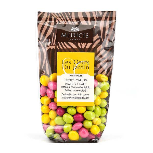 Petits oeufs en chocolat mulitcolores