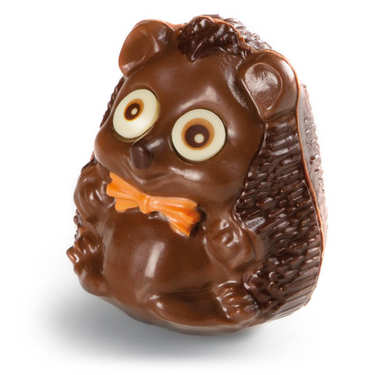Funny Easter hedgehog in milk chocolate - Mister