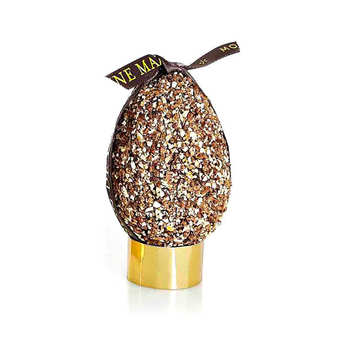 Mazet de Montargis - Dark Chocolate Egg with Praslines