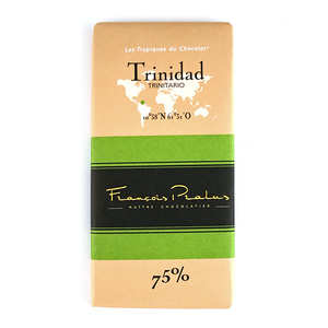 Chocolats François Pralus - Tablette chocolat noir Trinidad Pralus 75%