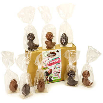 Belledonne Chocolatier - Boîte de 8 mini moulages bio à cacher