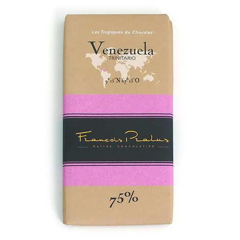 Chocolats François Pralus - Tablette chocolat noir Venezuela - Trinitario 75%