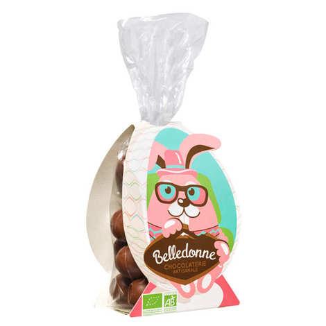 Belledonne Chocolatier - Petits oeufs au chocolat au lait coeur caramel beurre salé bio