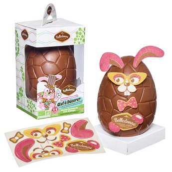 Belledonne Chocolatier - Oeuf à décorer en chocolat au lait bio