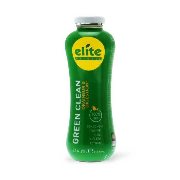 Jus detox Green Clear bio équitable - Concombre, persil, pomme, céleri, citron