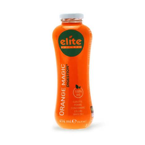 Elite Naturel - Jus detox Orange Magic bio équitable - Carotte, pomme, concombre, céleri, brocoli