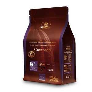 Cacao Barry - Concorde, recette Lenôtre -  Chocolat de couverture noir 66% - en pistoles