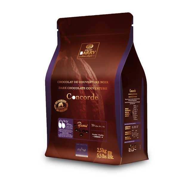 concorde recette len tre chocolat de couverture noir 66 en pistoles cacao barry. Black Bedroom Furniture Sets. Home Design Ideas