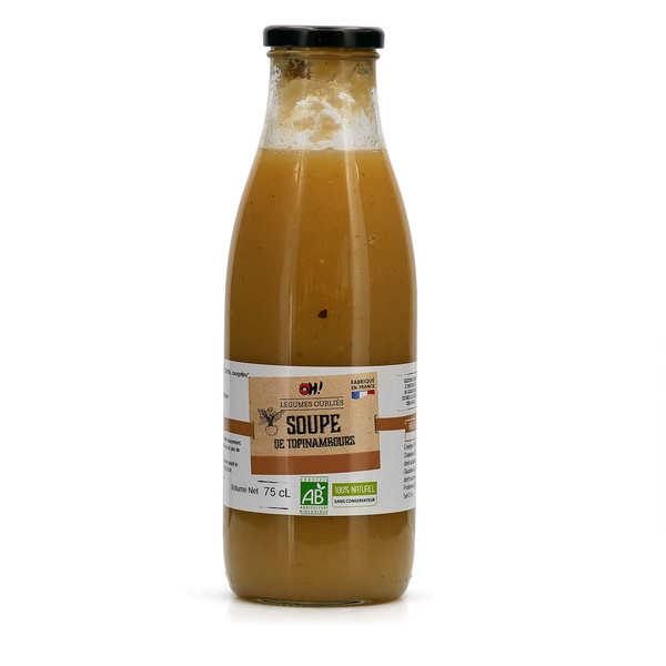 Organic Jerusalem artichoke soup