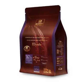 Cacao Barry - Elysée, recette Lenôtre - Chocolat de couverture lait 36%