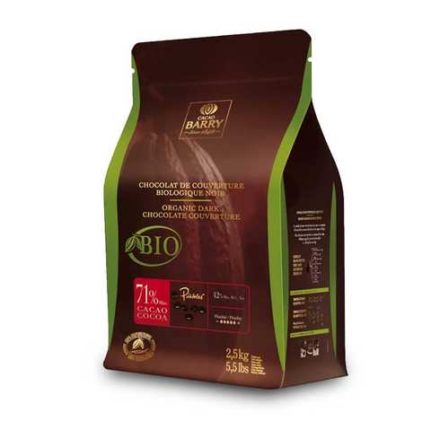 Cacao Barry - Organic Dark Chocolate Couverture 71%