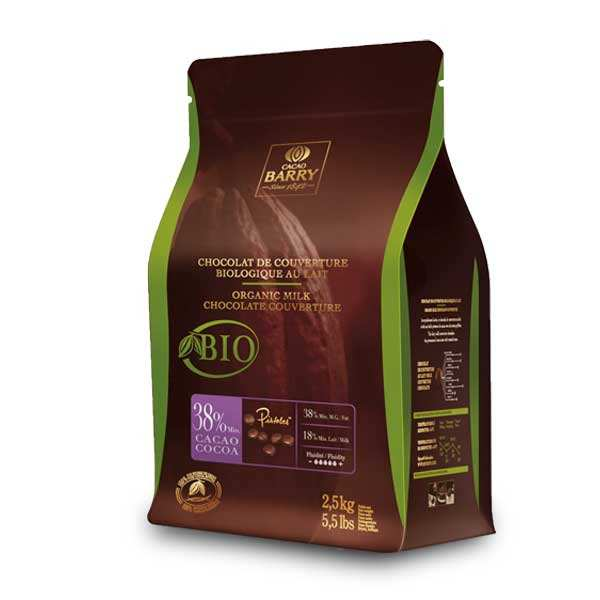 Organic Milk Chocolate Couverture 38%