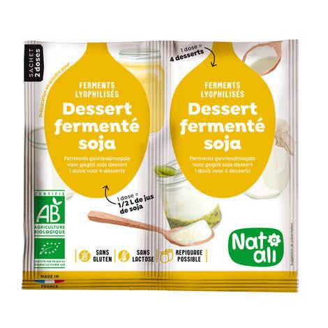 Nat-Ali - Ferments lyophilisés bio pour dessert ou yaourt au soja