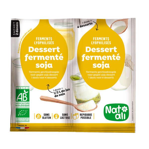 Ferments lyophilisés bio pour dessert ou yaourt au soja
