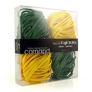 Epicerie Cornand - Les pâtes haute couture Cornand - saffron and  spirulina