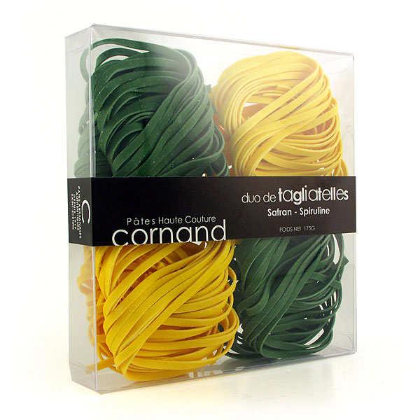 Les pâtes haute couture Cornand - saffron and  spirulina