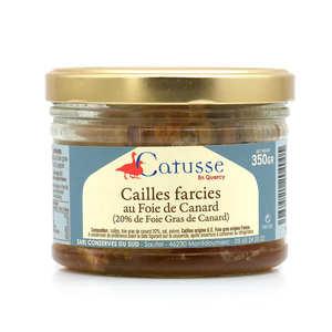 Michel Catusse - Cailles farcies au foie gras de canard