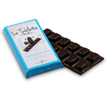 Tablette de chocolat noir fourrée à la truffe fantaisie