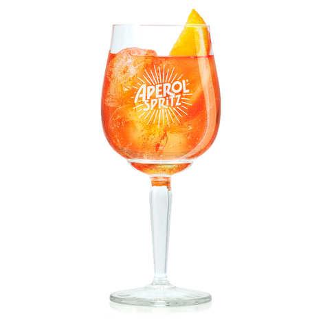 Apérol - Le verre à pied Apérol Spritz par Luca Trazzi