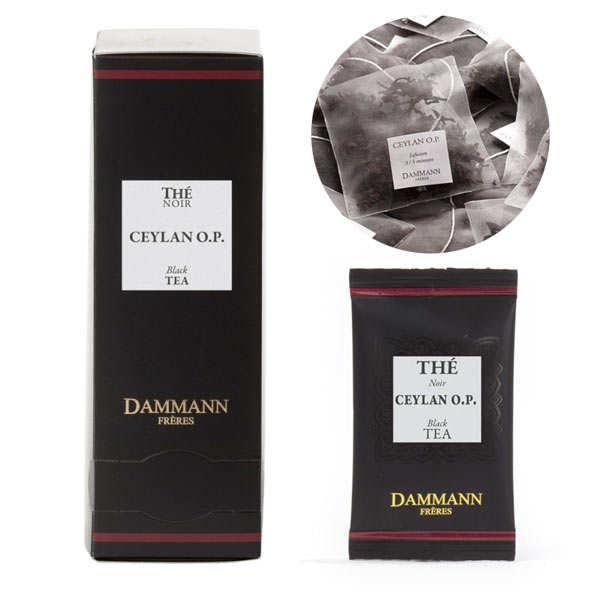 "Ceylon OP black tea in ""Cristal"" sachets by Dammann Frères"