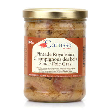 Guinea Fowl Pintade Royale in a Foie Gras Sauce