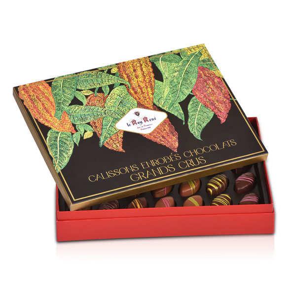 Calissons d'Aix enrobés de chocolat Roy René - coffret grands crus