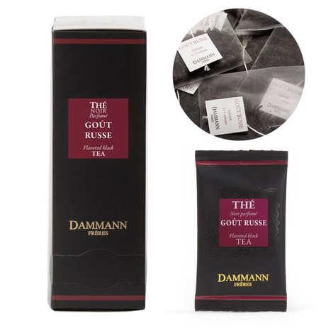 Dammann frères - Thé noir goût russe en sachets cristal - Dammann Frères
