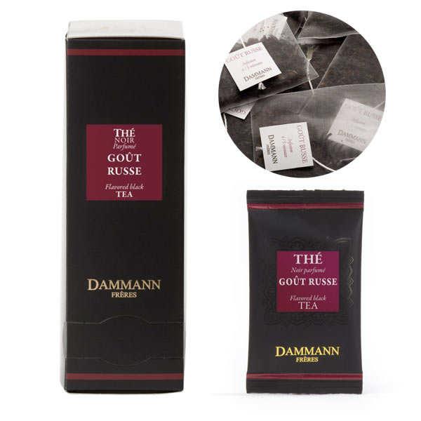 """Russian taste black tea in """"Cristal"""" sachets by Dammann Frères"""