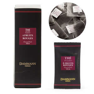 """Dammann frères - Black Tea with 4 Red Berries in """"Cristal"""" sachets by Dammann Frères"""