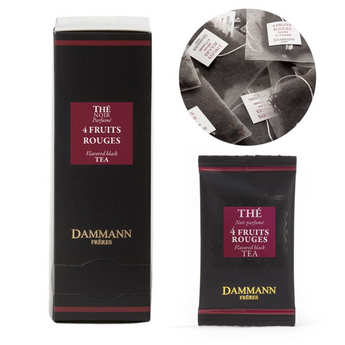 "Dammann frères - Black Tea with 4 Red Berries in ""Cristal"" sachets by Dammann Frères"