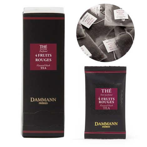Dammann frères - Thé noir aux 4 fruits rouges en sachets cristal - Dammann Frères