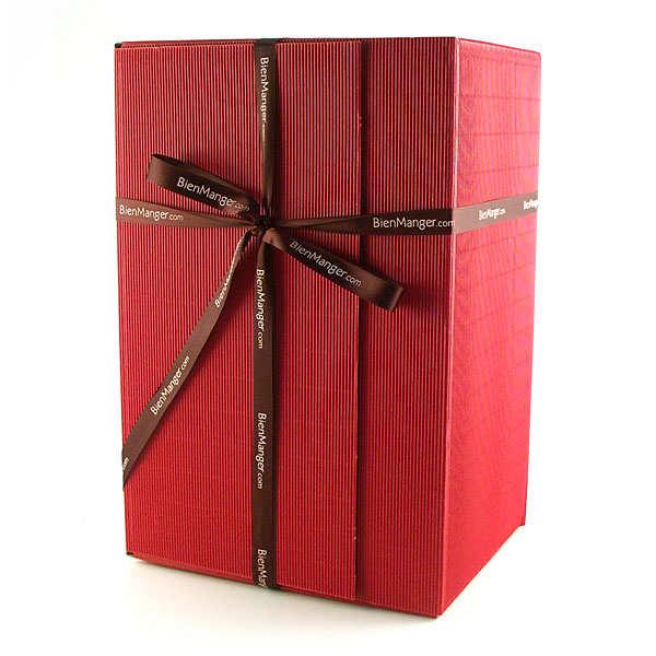 Coffret cannelures rouge - Dimensions : 38 x 26 x 19 cm. - le coffret