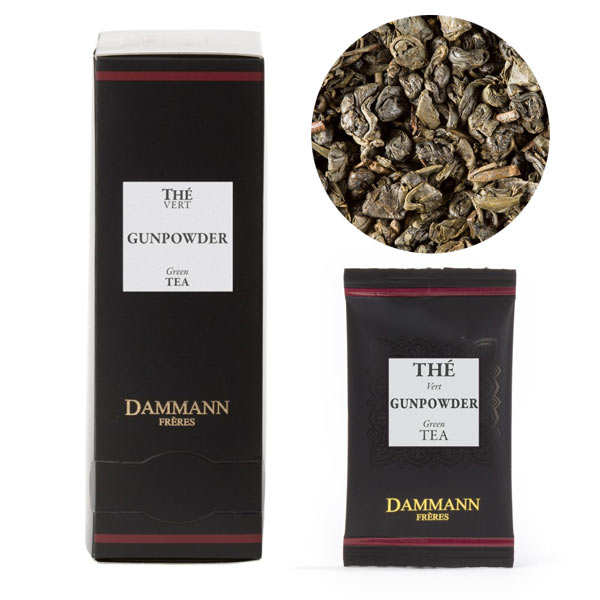 Thé vert de Chine Gunpowder en sachets cristal - Dammann Frères